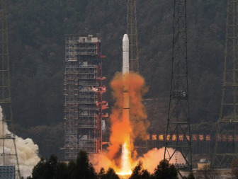 Dec. 31 launch of the Chinese Fengyun-2G weather satellite on a Long March 3A rocket. Credit: Xinhua
