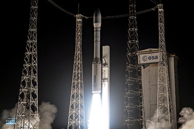 The Vega rocket lifting off for its inaugural launch. Credit: Arianespace