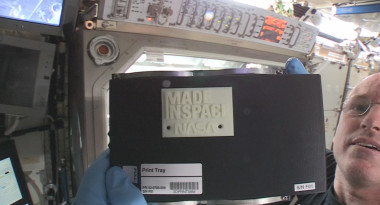First 3-D printed object on ISS