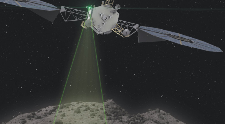 The Asteroid Redirect Vehicle conducts one of the 1 kilometer fly-bys that are used to characterize and image the asteroid with a resolution of up to 1 centimeter. Credit: NASA artist's concept