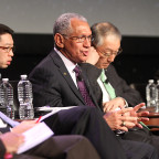 NASA Administrator Charles Bolden during Tuesday's space agency leaders panel. Credit: Thomas Kimmell