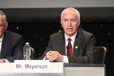 Blue Origin President Rob Meyerson speaking at the 31st Space Symposium. Credit: Tom Kimmell