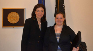 Sarah Beattie (right) with Sen. Kelly Ayotte