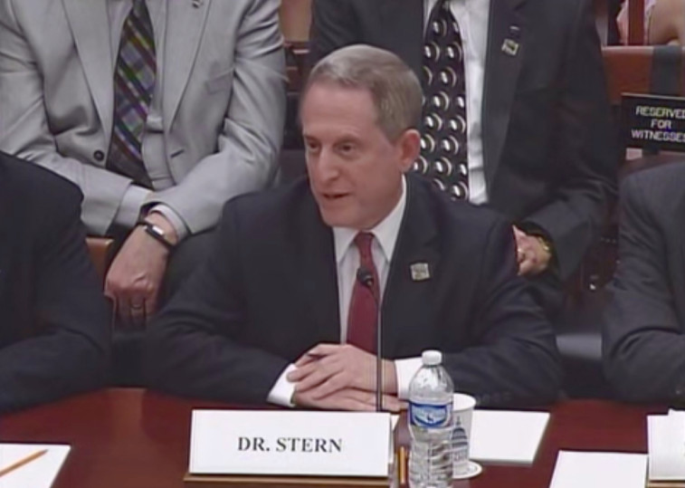 Alan Stern testifying before the House Science Committee. Credit: House Science Committee screen grab