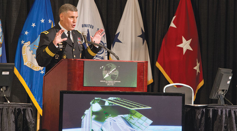 U.S. Army Lt. Gen. David Mann, head of the Army's Space and Missile Defense Command. Credit: C. Shamwell