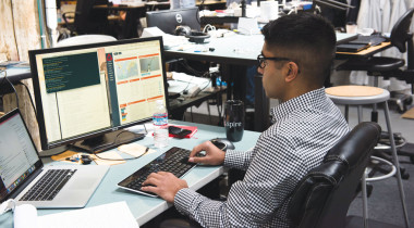 A member of one of Spire's satellite operations teams at work. Credit: Spire