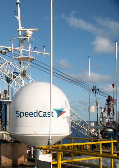 SpeedCast was introduced onto the Australian Stock Exchange a year ago; the stock has doubled since then. Credit: SpeedCast.