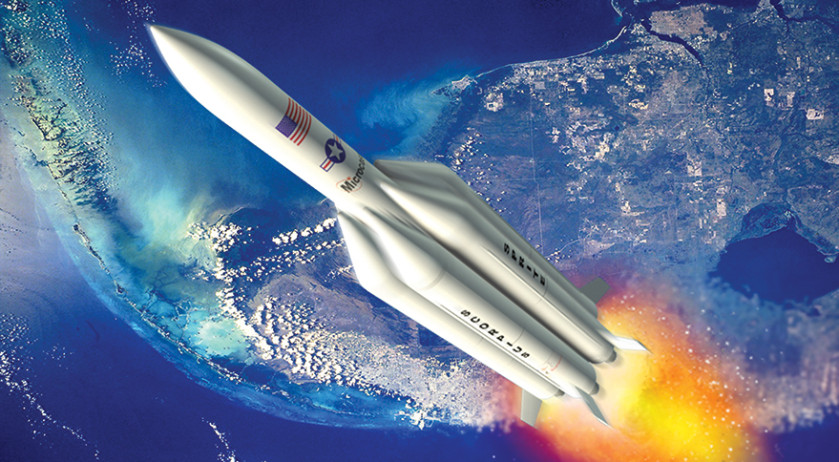 The Sprite launch vehicle is intended to put about 450 kilograms into low Earth orbit for less than $6 million. Credit: Microcosm artist's concept