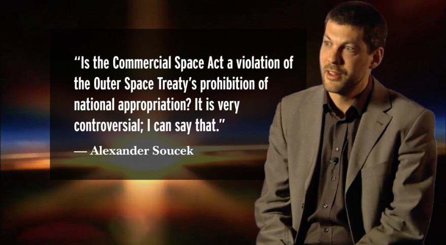 Alexander Soucek, head of the legal services department at the 22-nation European Space Agency. Credit: ESA video capture/SpaceNews