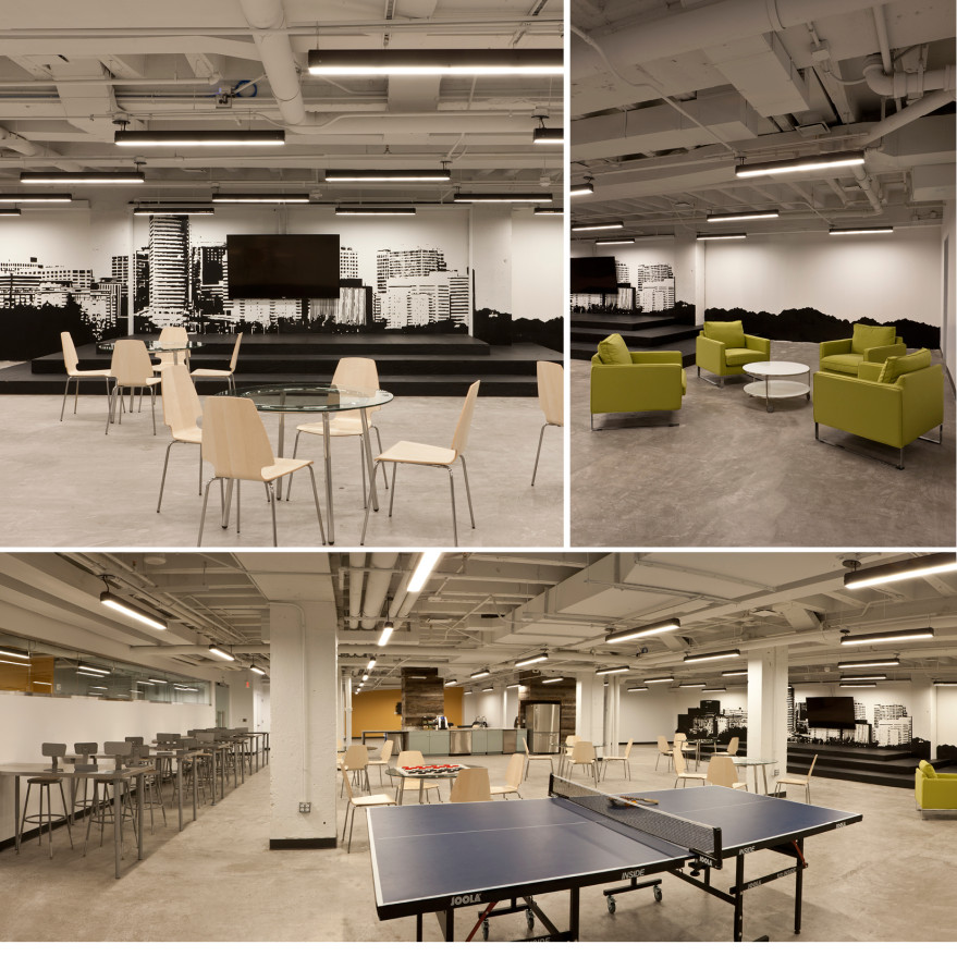 Interior shots provided by Monday Properties of the Rosslyn office space OneWeb took over in December.