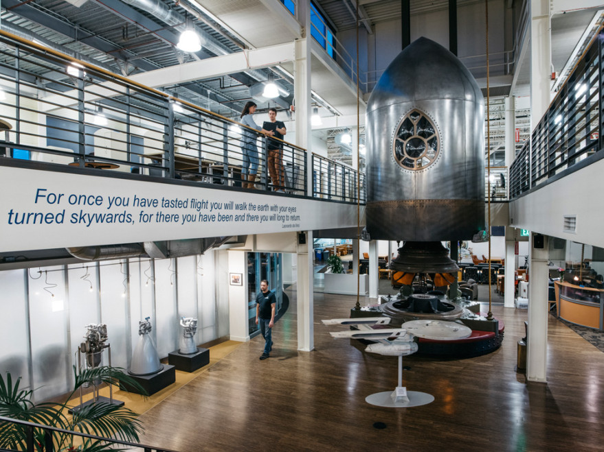 Blue Origin released this photo of its offices following a March 8 media tour.