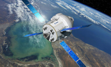 The European-built service module for NASA's Orion crew-transport vehicle will be three months late in shipping to the United States for test and integration by Orion prime contractor Lockheed Martin following a June 16 critical design review. Shipment has been rescheduled for April. Credit: Airbus