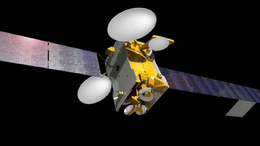 The SES-10 satellite, built by Airbus Defence and Space, will use conventional chemical propellant to raise its orbit immediately following its separation from the SpaceX Falcon 9 rocket. The satellite, expected to weigh about 5,000 kilograms at launch, will be the first to be orbited using a reused Falcon 9 first stage. Credit: SES