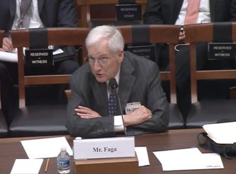 Martin Faga, former director of the National Reconnaissance Office and former Air Force assistant secretary for space. Credit: HASC video