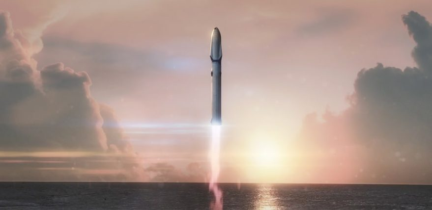 SpaceX large booster launch