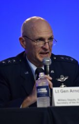 """""""We need to do more dialogue with the Hill,"""" Air Force Lt. Gen. Arnold Bunch said. """"I would hope we get that done within the next month.""""  Credit: U.S. Air Force/Wayne A. Clark"""