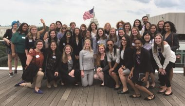 """In 2017, the Brook Owens Fellowship had nearly 200 applicants, resulting in 41 """"Brookies"""" interning with space companies during their junior or senior years of college. Credit: The Brook Owens Fellowship"""