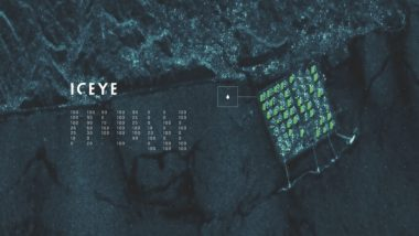 Ursa Space Systems, under a deal announced at GEOINT 2018 in April, will use ICEYE radar imagery such as the scene above to monitor oil wells and measure global oil storage in order to extract oil demand information for Ursa's data analytics clients. Credit: ICEYE X-1 imagery with data overlay