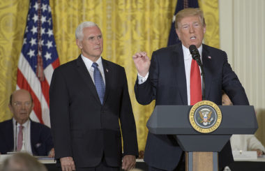"""President Trump directs the Pentagon to create a Space Force as a """"separate but equal"""" branch of the military."""