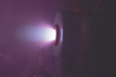 Phase Four has developed an alternative to Hall Effect thrusters that use radiofrequency waves, rather than electrodes, to generate plasma. Tests performed by The Aerospace Corporation found that the company's thrusters had performance similar to Hall Effect thrusters but in a smaller and less expensive package. Credit: Phase Four