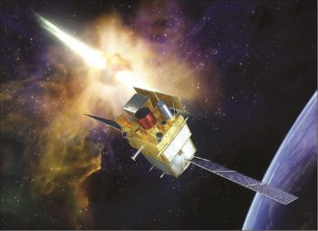 A rendering of the Space Variable Objects Monitor (SVOM) gamma-ray burst mission China and France are jointly developing for a launch expected after 2020. Credit: CNES