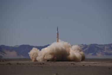 Liftoff of the OneSpace OS-X1 suborbital rocket from Jiuquan on September 7, 2018 (Credit: Chen Yunyuan via OneSpace)