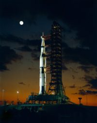 The Saturn 5 rocket, designed by Wernher von Braun and the brightest minds working at NASA and industry, remains to this day the world's most powerful rocket ever launched. Credit: NASA