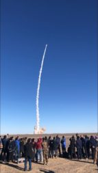 Launch of the Landspace Zhuque-1 solid-propellant rocket on Oct. 27, 2018 (Credit: Landspace)