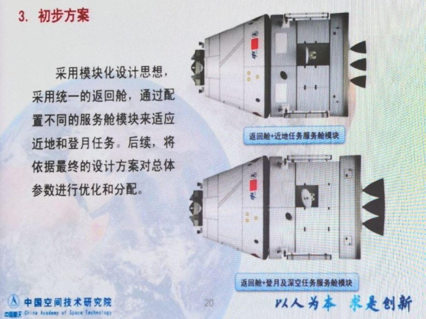 A slide illustrating China's next-generation crewed spacecraft presented at a human spaceflight conference in Xi'an in October 2018. Credit: Wanyzhh