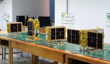 Four Spacety microsatellites prior to their Oct. 29 launch as secondary payloads aboard a Long March 2C rocket carrying the China France Oceanography Satellite. Credit: Spacety