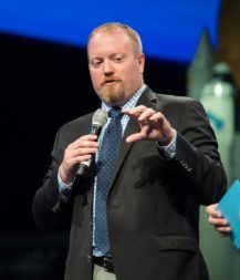 """Jason Crusan, director of NASA's Advanced Exploration Systems Division, says a three stage approach is the best option for a lunar lander. """"If you did a single-stage lander, there isn't a launch vehicle that it can fit on,"""" he told a NASA advisory committee Dec. 7. Credit: NASA"""
