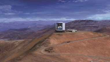 A rendering of the Giant Magellan Telescope expected to enter service atop Chile's Las Campanas Peak in the 2020s. The proposed U.S. ELT Program aims to provide $1 billion in federal funding for GMT and TMT. Credit: Mason Media Inc. via GTMO