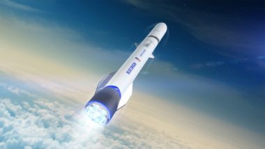 Blue Origin's reusable New Glenn rocket is slated to make its debut in 2021. Launch customers signed to date include Eutelsat, Telesat,Sky Perfect JSAT, OneWeb and Mu Space. Credit: Blue Origin