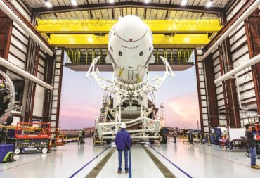 SpaceX plans to re-use the Demo-1 Crew Dragon capsule, shown above in January, for an in-flight test of the vehicle's crew abort system before flying the crewed Demo-2 mission no sooner than July. Credit: SpaceX