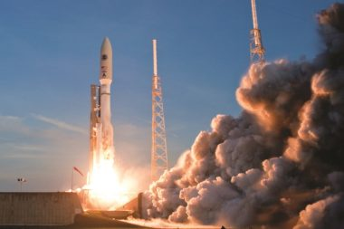 An Atlas 5 launches the U.S. Air Force's first AEHF communications satellite in 2010. The fifth satellite in the series is due to launch in June followed by the sixth and final sometime next year. Credit: U.S. Air Force Space Command