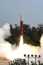 An Indian PDV-Mk II missile lifts off March 27 en route to intercept and destroy Microsat-R. Credit: Government of India