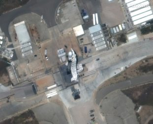 WorldView-3 image of Falcon 9