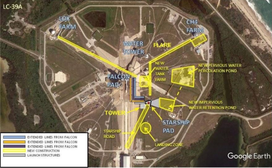 LC-39A Starship map